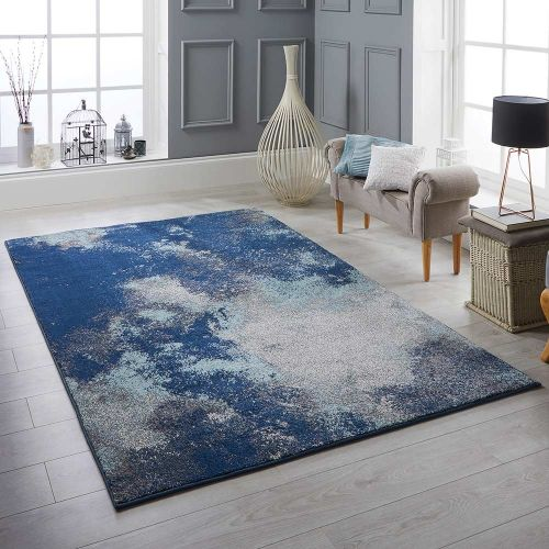 Sansa 1802 L Rug Contemporary Blue