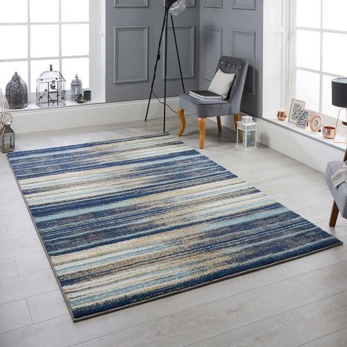 Sansa 82 L Rug Contemporary Blue