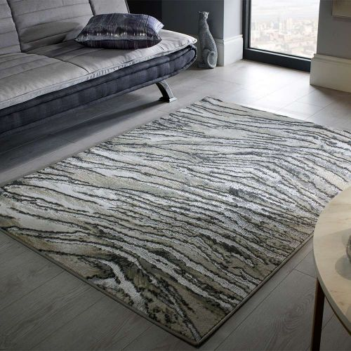 Abstract Santorini Bronze Rug