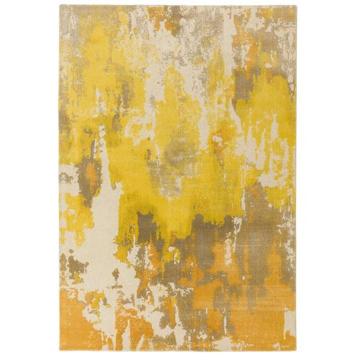 Saturn Rug Yellow Woolen Print