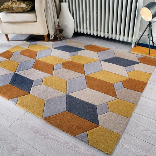 Scope Rug Ochre Grey