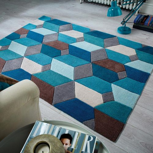 Scope Rug Teal Grey