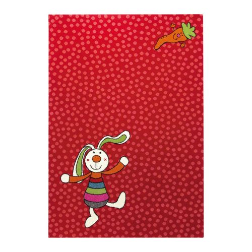SIGIKID Rainbow Rabbit Red Rug