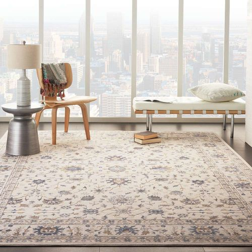 Traditional Silky Textures SLY09 Ivory Rug