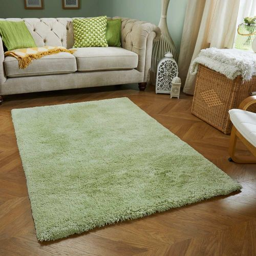 Softness Green Plain Rug