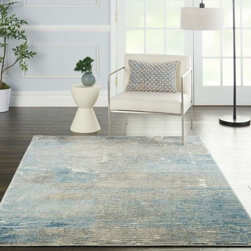 Solace SLA01 Ivory Grey Blue Rug