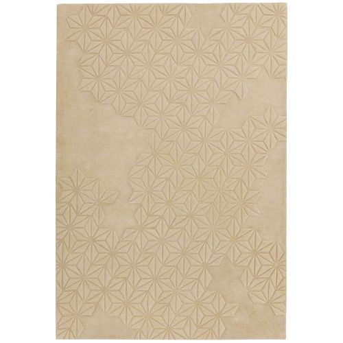 Starburst 3D Rug Natural Woolen Viscose