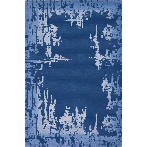 Abstract Symmetry SMM02 Navy Blue Rug