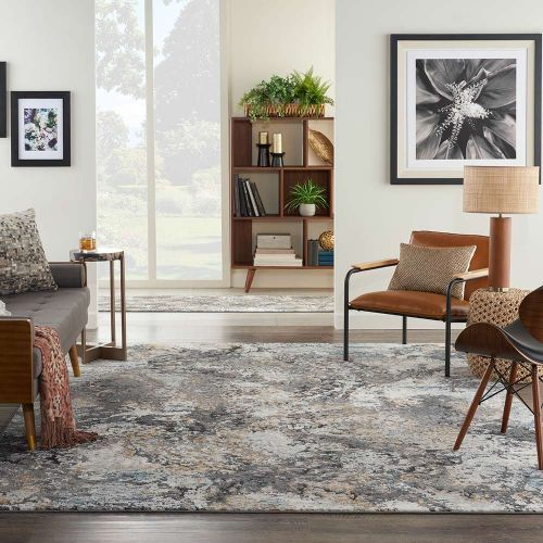 Contemporary Tangra TNR01 Grey Multi Rug