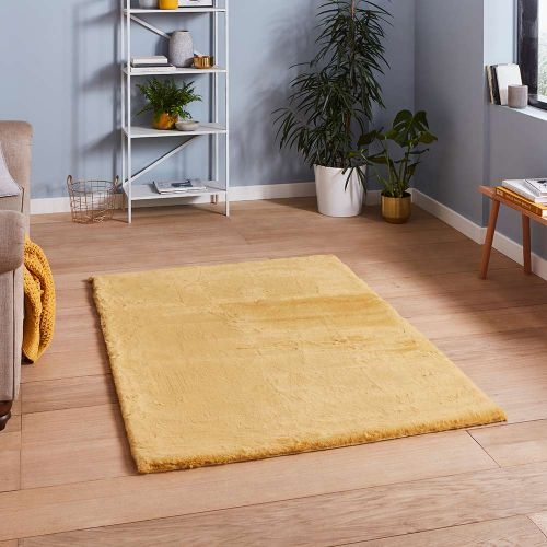 Teddy Soft Shaggy Yellow Rug