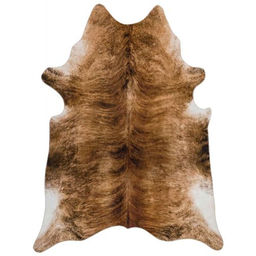 Texas Faux Cowhide Brown Rug