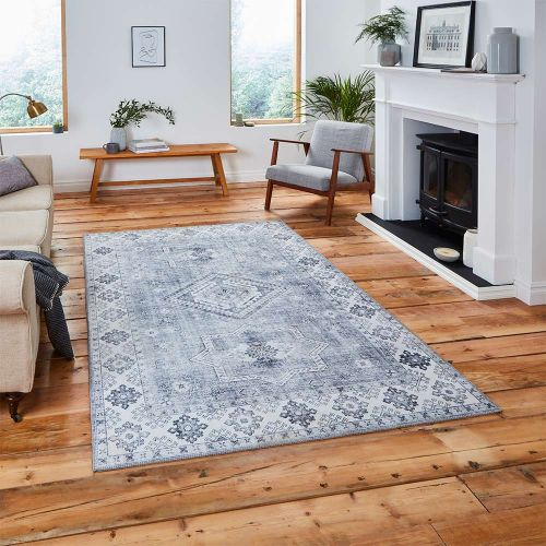 Topaz G4705 Traditional Silver Rug