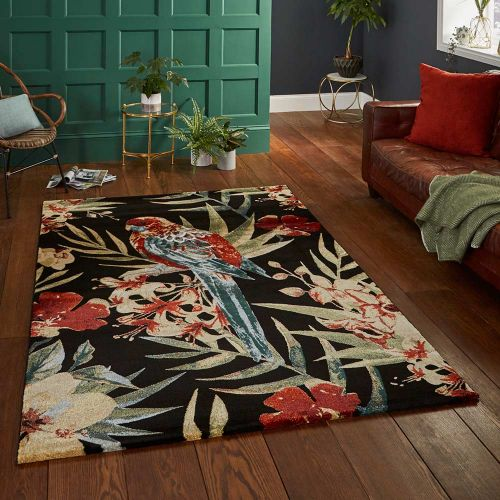 Black Multicolour Rug 6093 Tropics