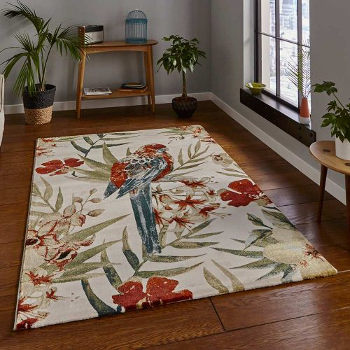 Cream Multicolour Rug 6093 Tropics