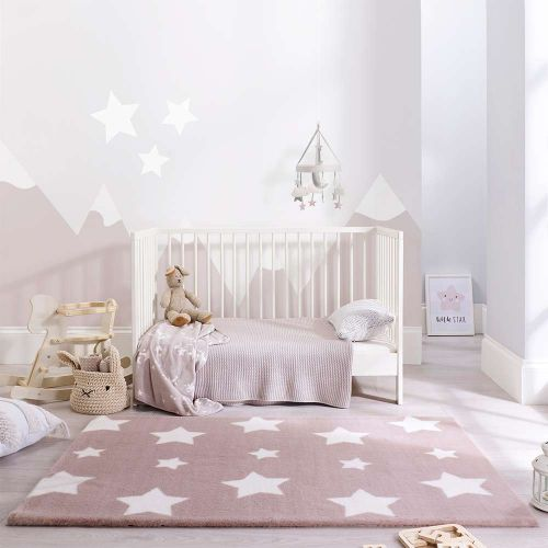 Childrens Twinkle Stars Candy Caramel Cream Rug