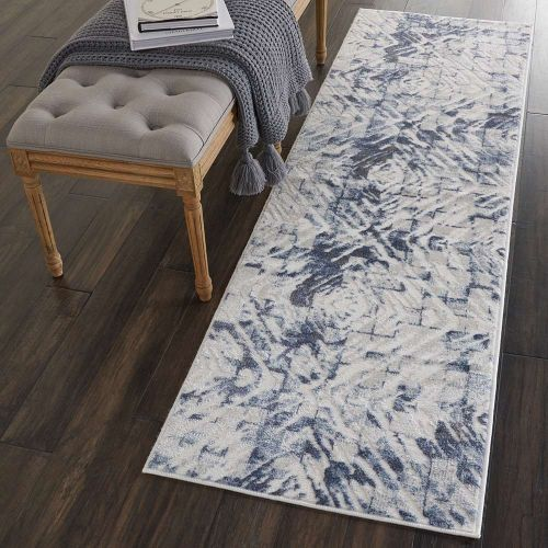 Abstract Urban Décor URD02 Ivory Blue Rug