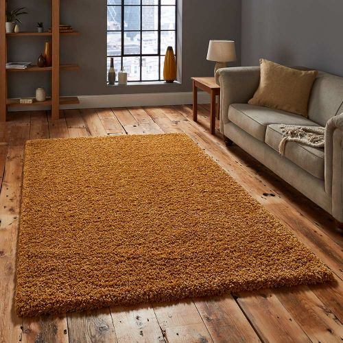 Vista 2236 Yellow Shaggy Rug