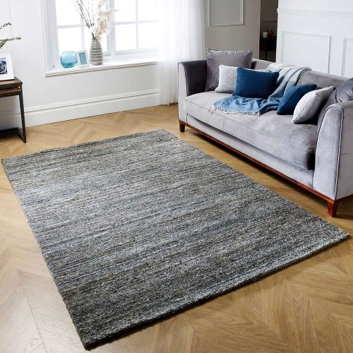 Vista Grey Striped Rug