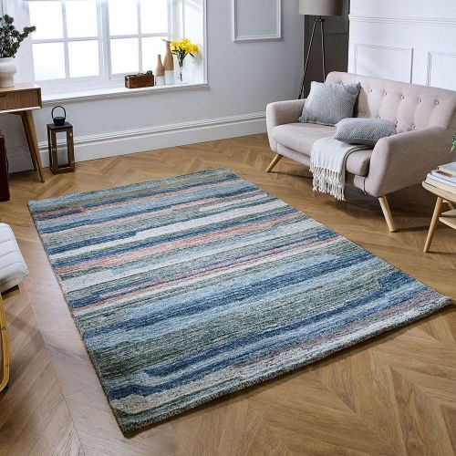 Vista Multi Coloured Striped Rug