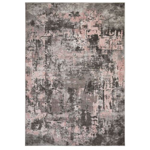 Abstract Wonderlust Grey Pink Rug