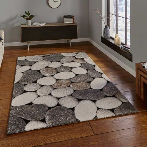 Woodland 2099 Cream Grey Funky Rug