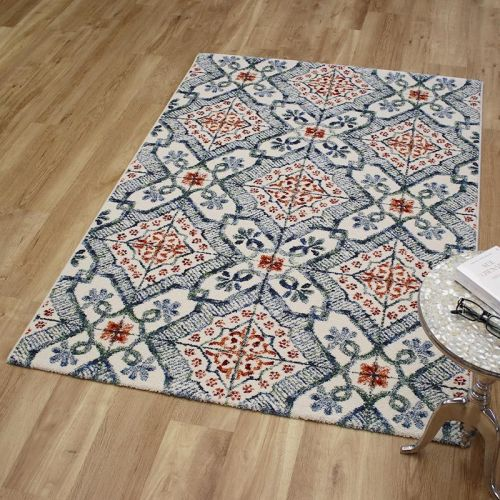 Woodstock Rug 0691 Blue Rust