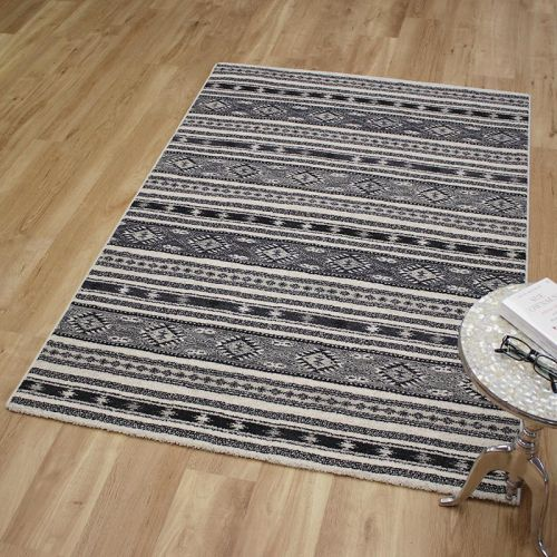 Woodstock Rug Grey Bone