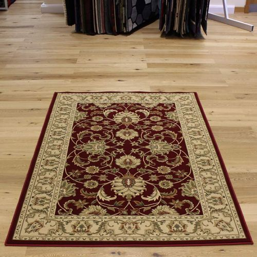 On Sale K45 Classic floral red Circle rug 120cm