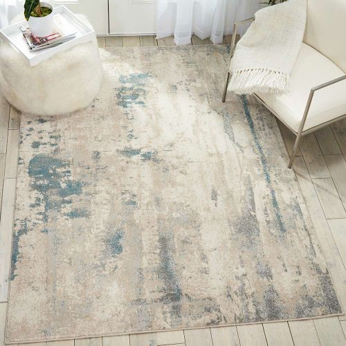 Abstract Maxell Rug MAE17 Ivory Teal