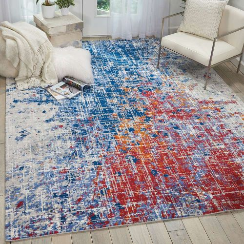Abstract Twilight Rug Red Blue TWI25