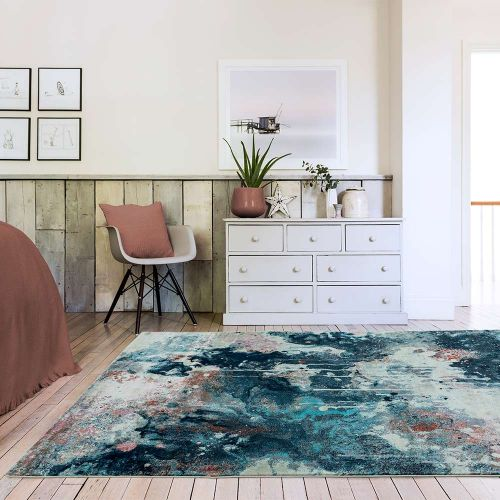 Amelie AM07 Moonlight Abstract Multi Coloured Rug