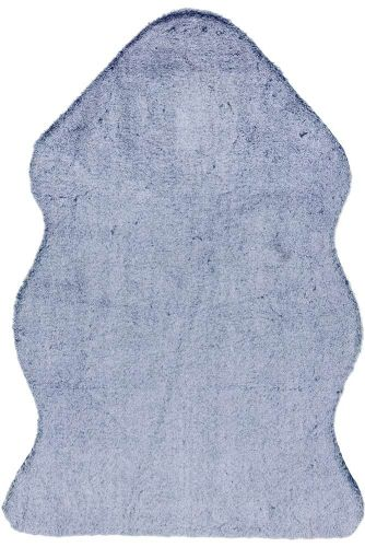 Willow faux Fur Navy tipped Rug