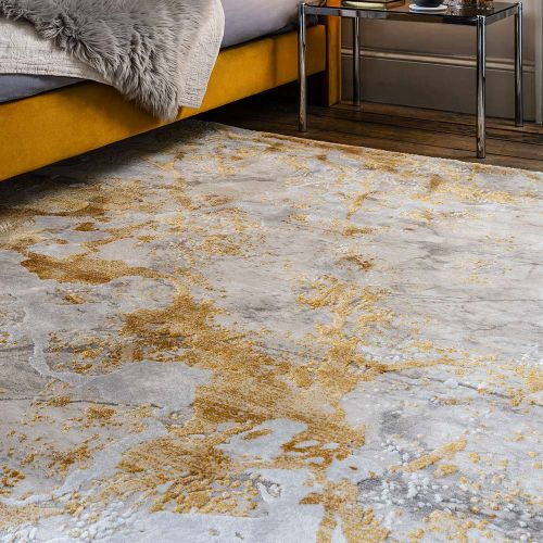 Astral Rug AS09 Ochre 3D Abstract Style