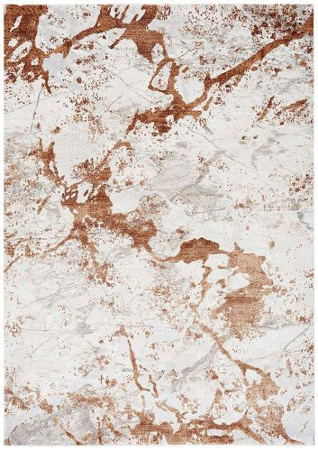 Astral Rug AS10 Terracotta 3D Abstract Style