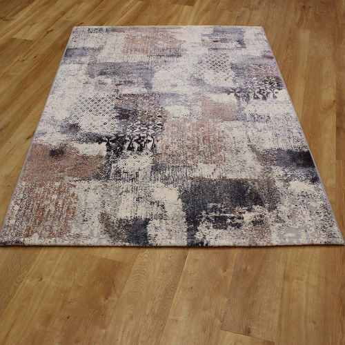 Canyon Abstract Blue Rust Rug