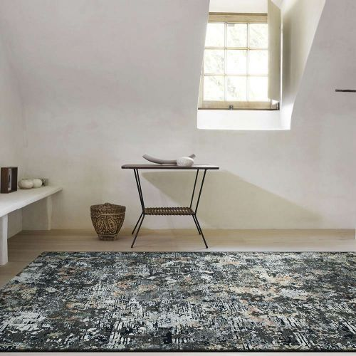 Canyon Rugs Charcoal Peach Mint 52023 3535