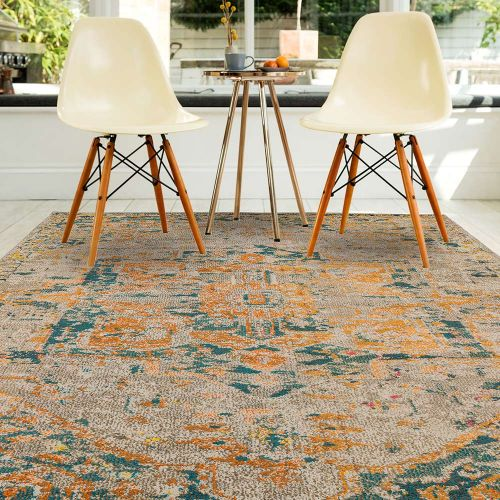 Sale Colores Cloud Arabesque CO02 Abstract Multi Coloured Rug 120x170