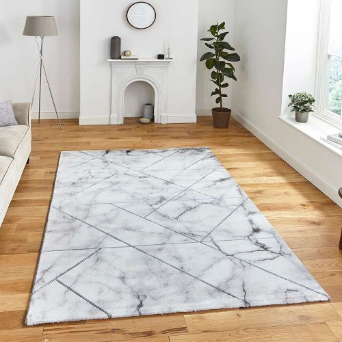 Craft 23299 Abstract Ivory Silver Rug