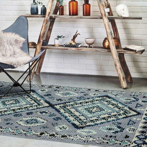 Cyrus CY08 Ines Abstract Fringe Rug