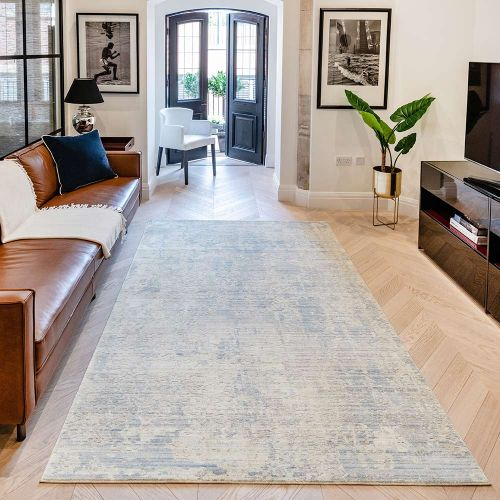 Essence ESSC02 Silver Blue Rug by Concept Looms
