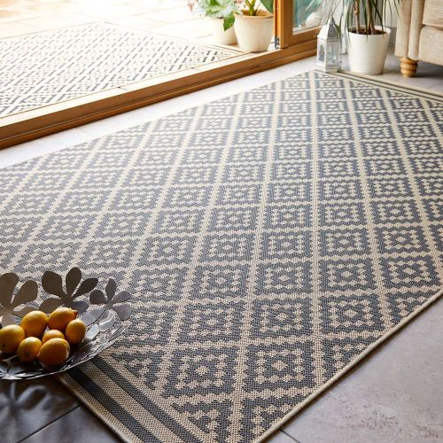 Sale Moretti Beige  Anthracite Patterned Rug 120x170