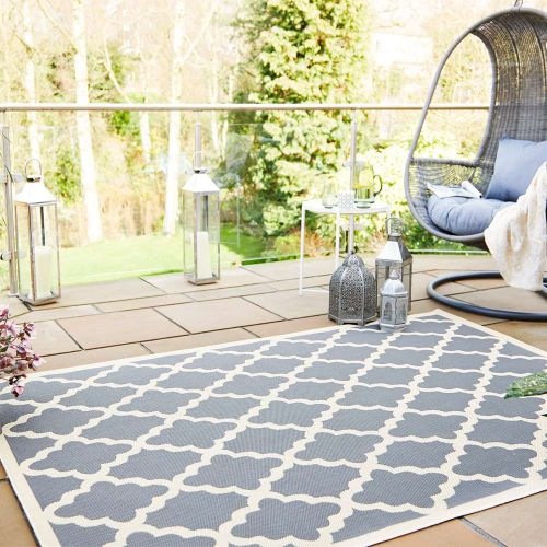 Sale Padua Beige  Anthracite Traditional Patterned Rug 120x170