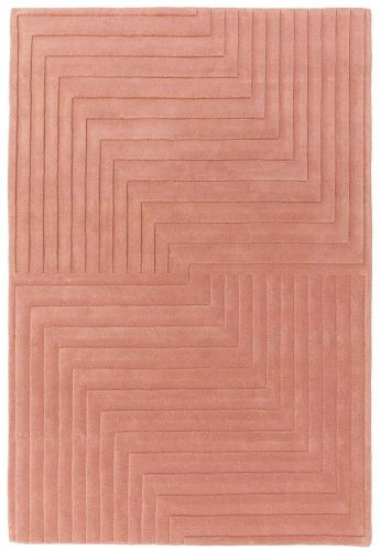 Form Rug Pink Colour 3D Wool Pile
