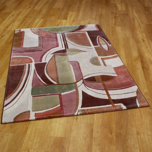 Galleria Abstract Pink Rust Rug 6270