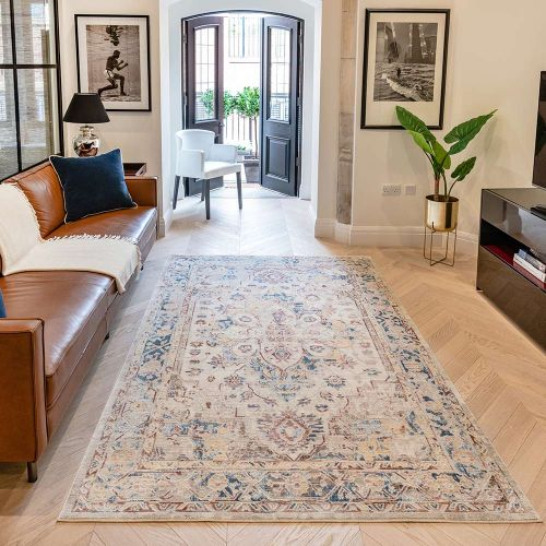Heritage HRTG101 Ivory Multi Rug by Concept Looms