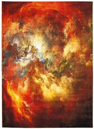 Abstract LE Reve LER07 Red Multi Rug