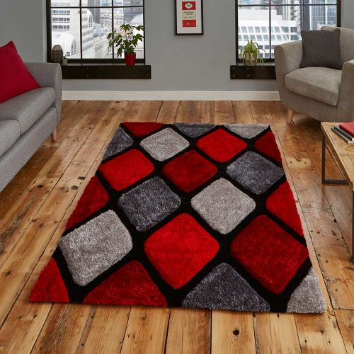 Noble House 9247 Grey Red Rug