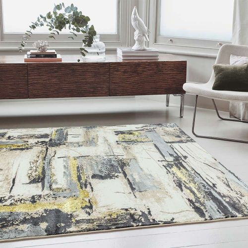 Orion OR03 Decor Yellow Modern Abstract Rug