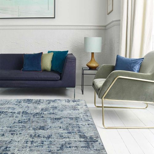 Orion OR04 Abstract Blue Modern Abstract Rug