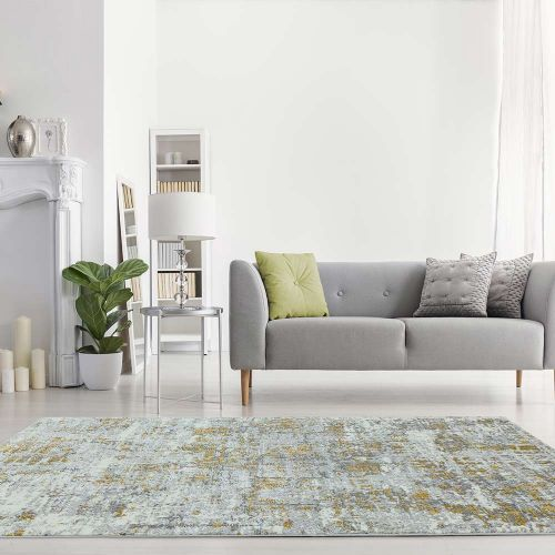 Orion OR07 Abstract Yellow Modern Abstract Rug